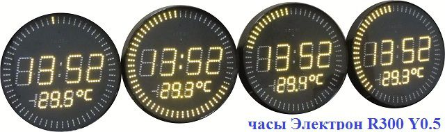 Электронные часы для офиса круглые